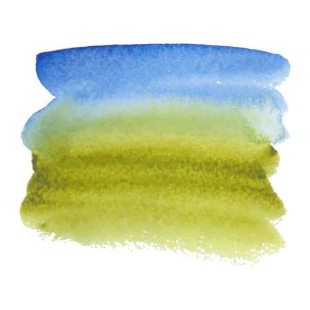 Green-blue abstract watercolor brush strokes painted background. Texture paper. Vector illustration.