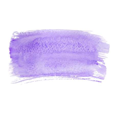 Violet abstract watercolor brush strokes painted background. Texture paper. Vector illustration.