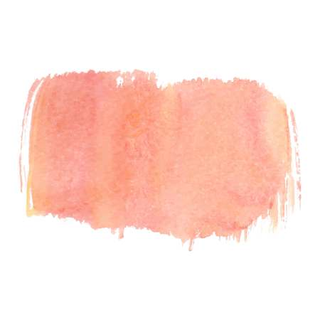 Orange abstract watercolor brush strokes painted background. Texture paper. Vector illustration. Standard-Bild