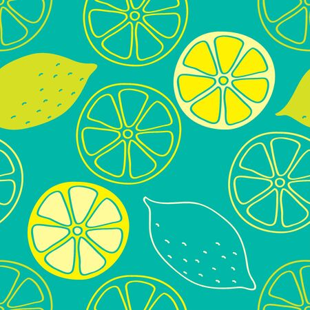 turquoise wallpaper: Lemons hand painted on a turquoise background create a continuous pattern. Can be used for textile printing, packaging, Wallpaper.
