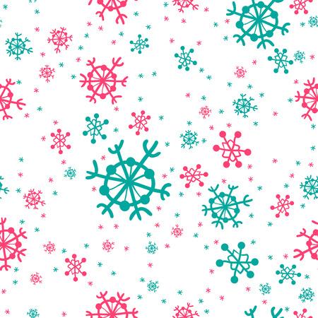 Seamless pattern of snowflakes Illustration