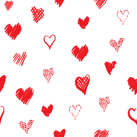 Romantic pattern with hearts Иллюстрация