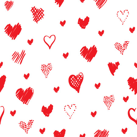 Romantic pattern with hearts Illustration