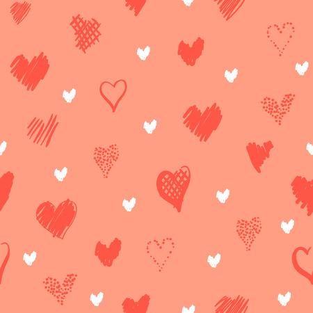 Romantic pattern with hearts Фото со стока