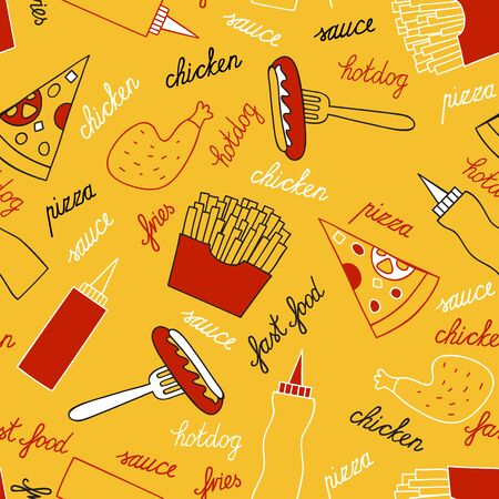 savour: Fast food on a yellow background