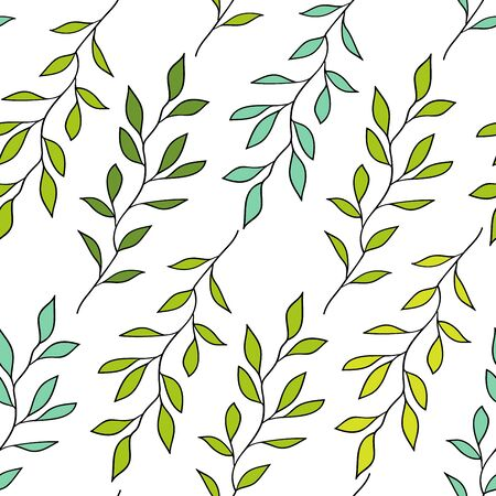 Seamless pattern of the branches Illustration