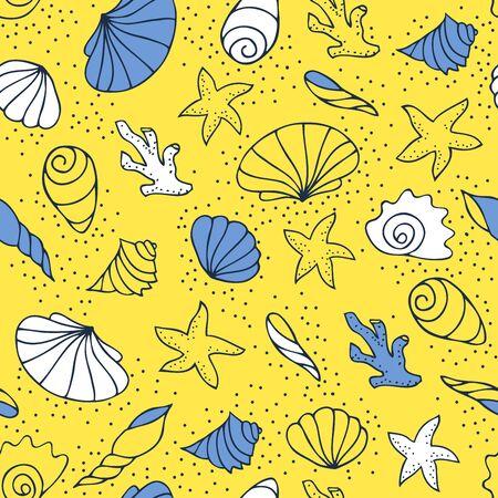 coastal: Seashells on the sand Illustration