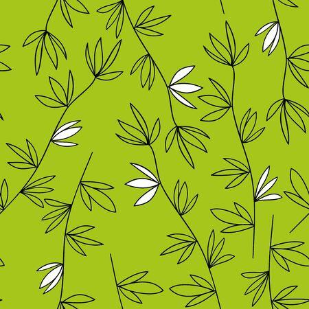 Green vegetable seamless pattern Illustration