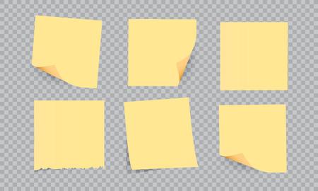 Nota de palo amarillo aislado, ilustración vectorial