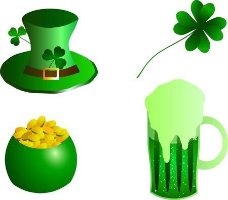 illustration of St. Patrick Day hat 向量圖像