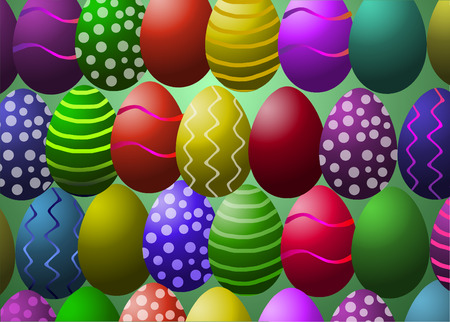 illustration of colored easter eggs
