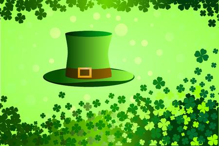 illustration of St. Patricks Day hat