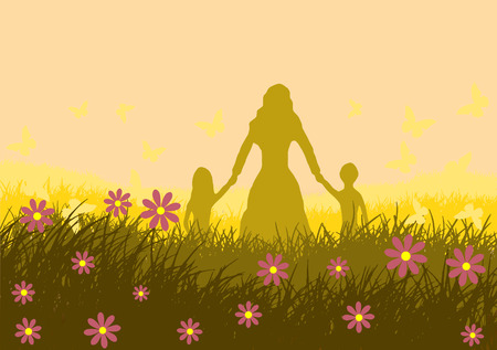 Illustration of Mother Day.
