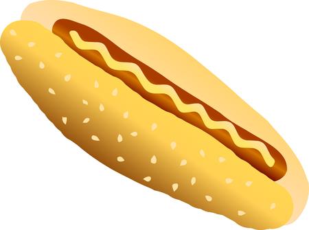 Vector illustration. Hot-dog.