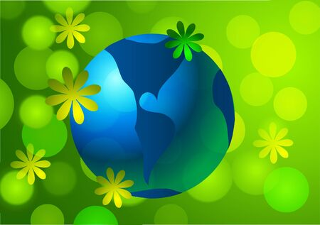 Vector illustration of Earth Day. 向量圖像