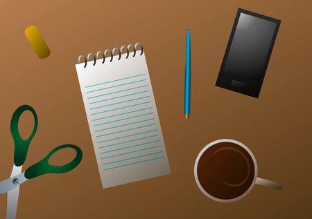Vector illustration. Desktop.