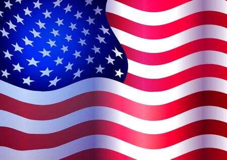 Vector illustration. American flag.