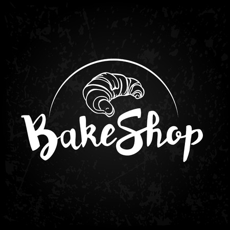 A signboard, a logo, a template for a bakeshop, a bread store, an element of decor. Fresh bread and pastries. Vector