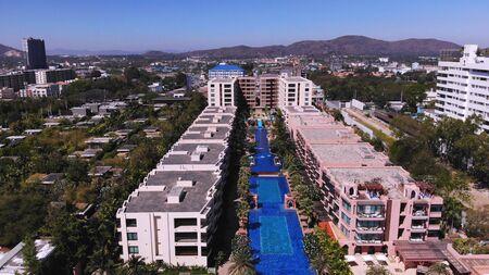 Hua Hin, Thailand - March 10, 2019: MARRAKESH HUA HIN APARTMENT, hotel by the sea.