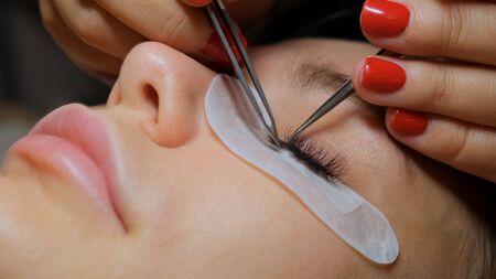 Woman Eye with Long Eyelashes. Eyelash Extension. 版權商用圖片 - 132125917