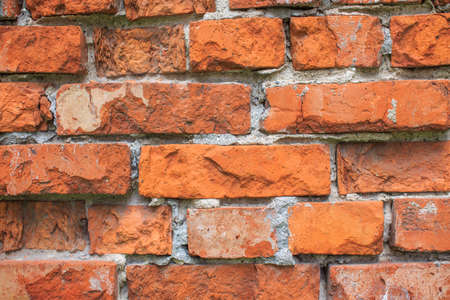 pared de ladrillo. Antecedentes de la vieja textura de pared de ladrillo