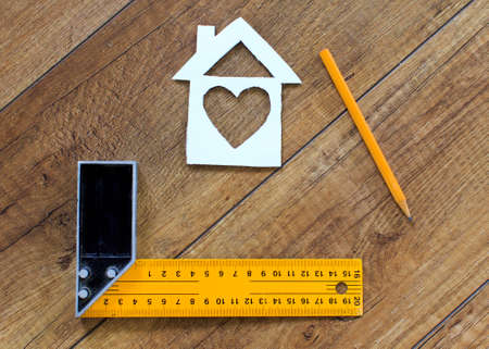 home decorating: dream house.planning, drawing creation, and calculations for a dream home