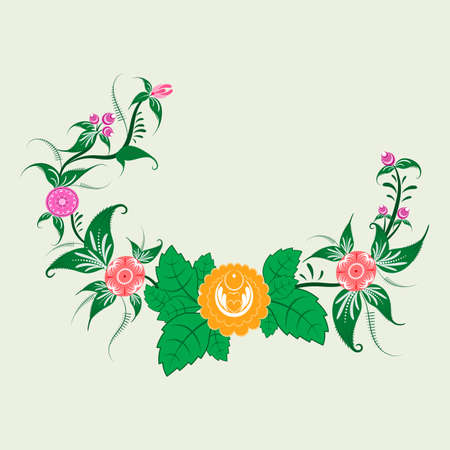 Folk flower ornament for used for wedding invitations, greeting cards, wallpaper, printing on the packaging paper, textiles.