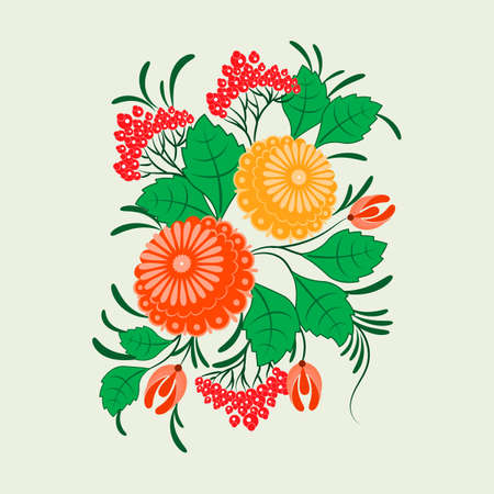 Ornament in the Slavic folk style for used for wedding invitations, greeting cards, wallpaper, printing on the packaging paper, textiles.