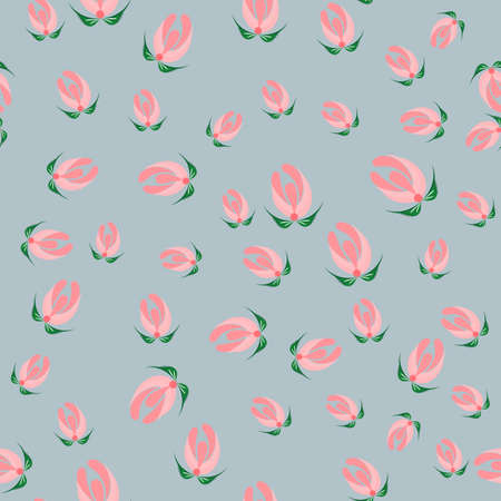 Slavic seamless pattern of buds for used for wallpaper, printing on the packaging paper, textiles.
