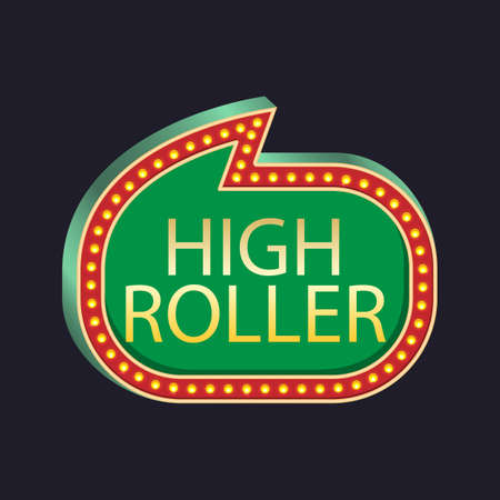 Casino party. High Roller for used for wallpaper, printing on the packaging paper, textiles.