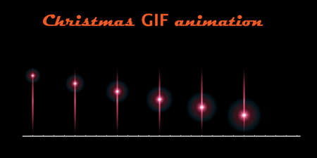 A set of create Christmas animations. Moving flash on a black background. For used for web, wallpaper, printing.