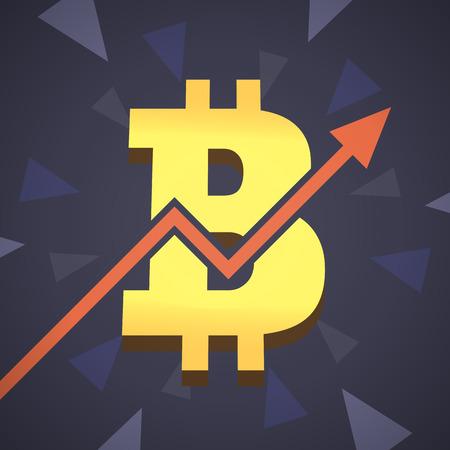 mine site: Bitcoin grow up illustration.