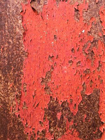 Red old metal texture. Grunge background.