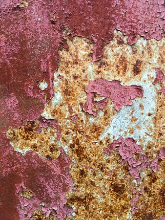 Grunge metal background. Abstract old pink and brown texture. Stock Photo