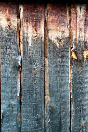 the background of the fence is made of boards photo
