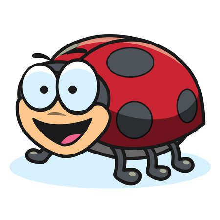 Cartoon ladybug, vector illustration Stockfoto - 129269897