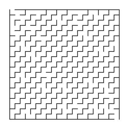 Laberinto / laberinto sobre fondo blanco, juego para niños, ilustración vectorial Ilustración de vector