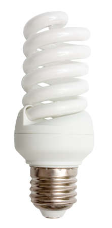 cfl: Compact fluorescent lamp (CFL) isolated on white Stock Photo