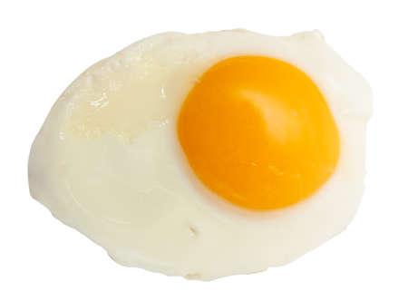 huevo blanco: Lado soleado de huevo frito para arriba aislados en blanco