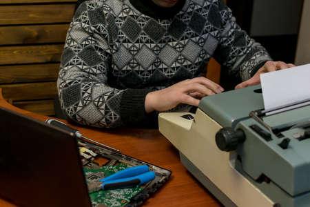computer typewriter