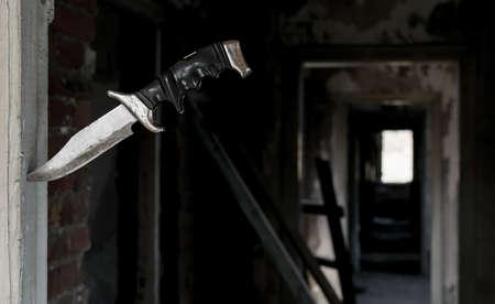 Un terrible vieux couteau de combat