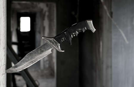 A terrible old combat knife Stock Photo
