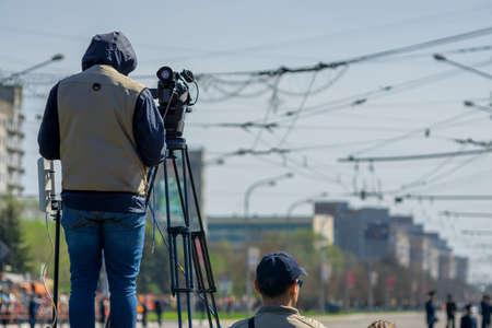 camarógrafo agencia de noticias dispara un informe