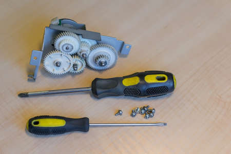 on table lie reducer with gears