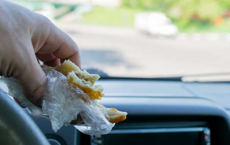 pie in the car