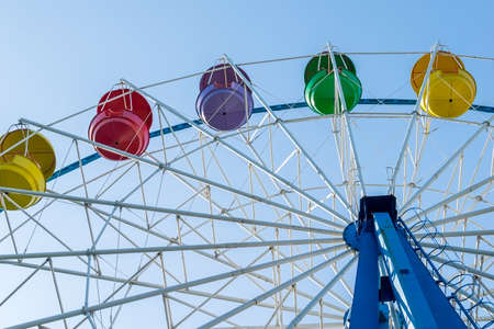 Ferris wheel from the amusement Park Imagens
