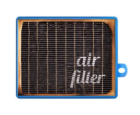 High efficiency air filter for HVAC system. new and used filter.
