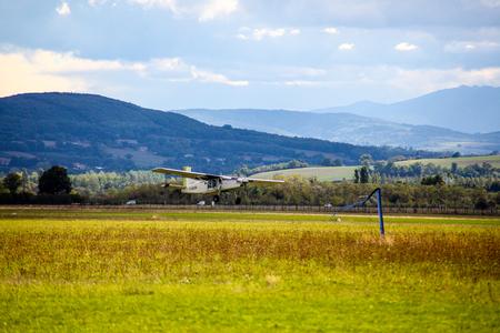 fungicide: Smol plane Stock Photo