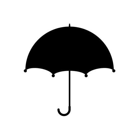 Vector umbrella icon in flat design. Umbrella silhouette. Vectores
