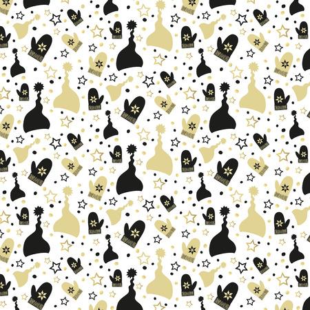 Seamless christmas pattern  for your design on the white background. Illusztráció